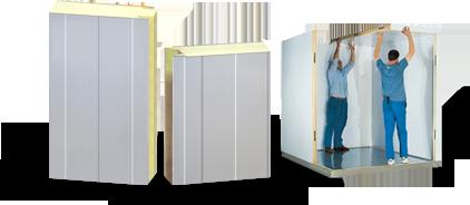 Panneau isolant pour chambre froide et chambres cong lateur for Panneau isolant chambre froide
